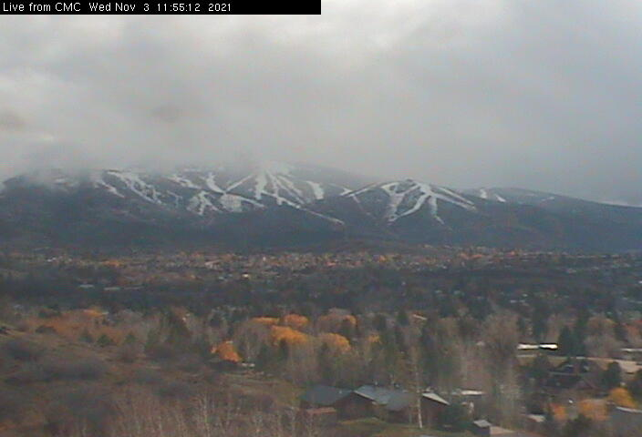 Looking SE from Colorado Mtn College - Old Town & Steamboat Ski Area